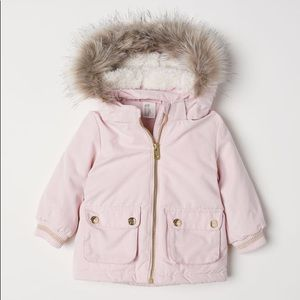 Girls padded parka jacket 6-9m